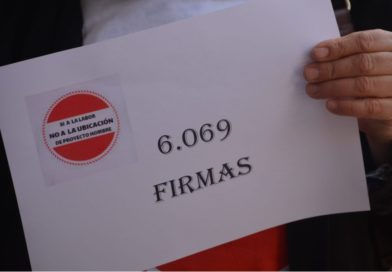 6069 firmas entregadas contra ubicacion proyecto hombre