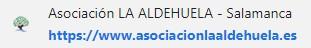 url web oficial asociacion la aldehuela salamanca