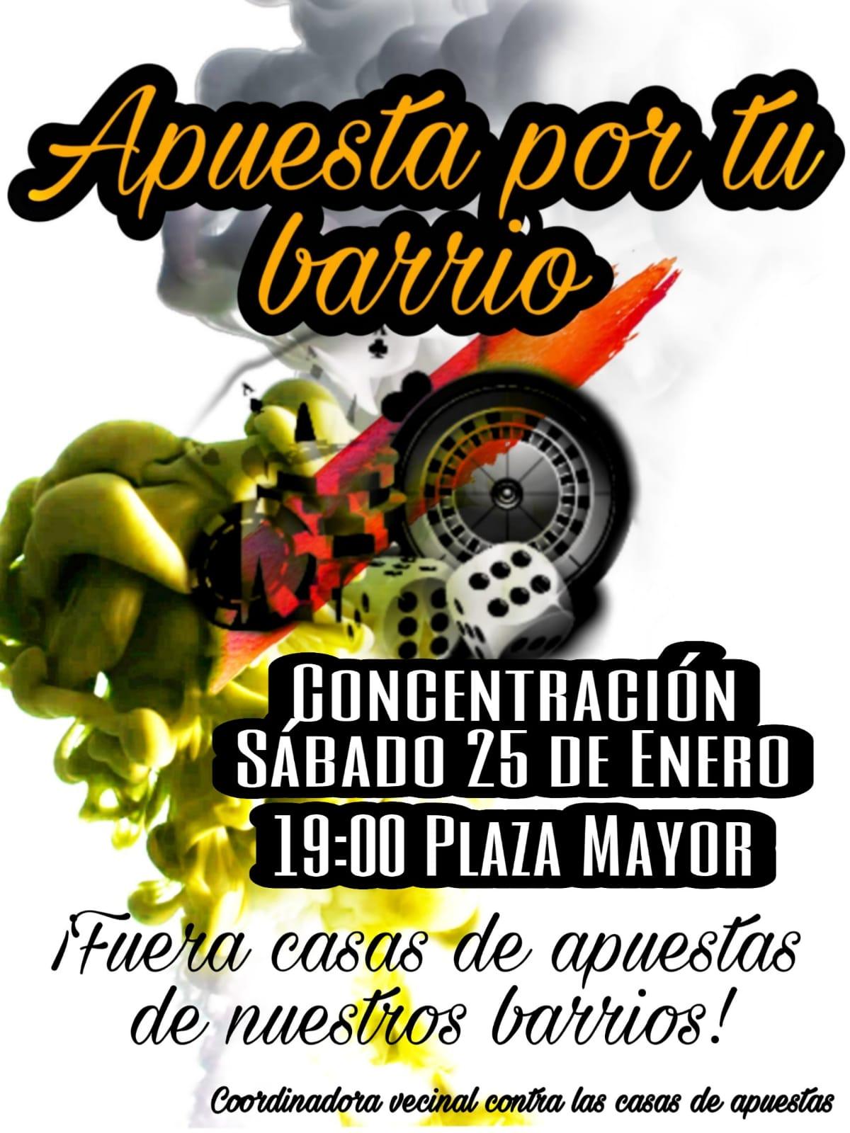 Concentración contra casas de apuestas en barrios de Salamanca 25 Enero 2020