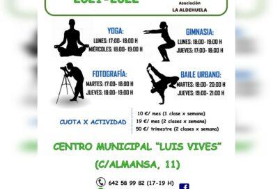 Actividades Asociación La Aldehuela de Salamanca 2021